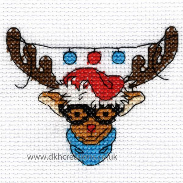 Christmas Characters Rudolph Mini Cross Stitch Kit